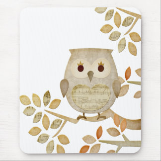 Musical Tree Owl Mousepad