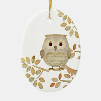 Musical Tree Owl Ornament
