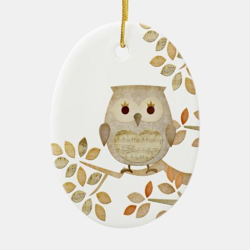 Musical Tree Owl Ornament