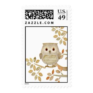 Musical Tree Owl Postage
