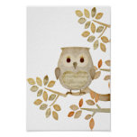 Musical Tree Owl Poster