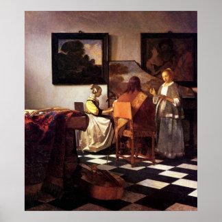 Musical Trio by Johannes Vermeer Poster