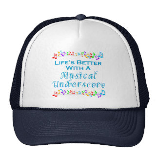 Musical Underscore Hat