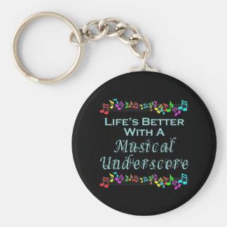 Musical Underscore Keychain