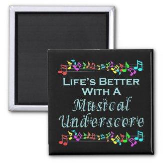 Musical Underscore Magnet