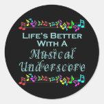 Musical Underscore Stickers