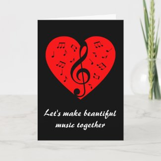 Musical Valentine Holiday Card