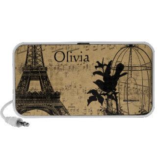 Musical Vintage Bird Cage  Eiffel Tower Portable Speaker
