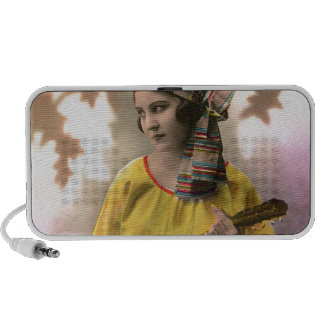 Musical Vintage Gypsy in Vibrant Color Portable Speakers