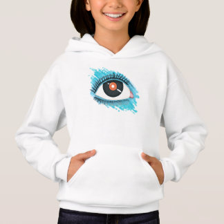 Musical vision: eye illustration with vinyl record hoodie