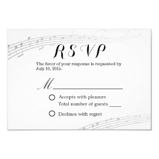 Musical Wedding Simple And Elegant Rsvp Card at Zazzle