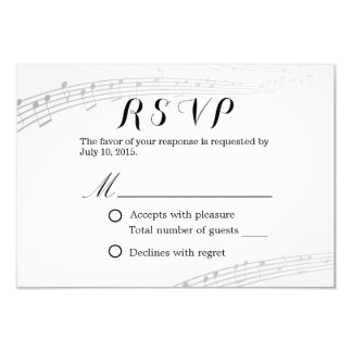 Musical Wedding Simple and Elegant RSVP Card