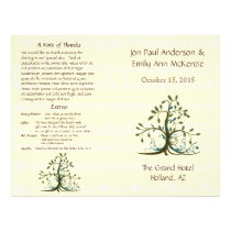 Musical Whimsical Tree Wedding Program