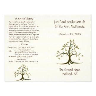 Musical Whispy Tree Wedding Program