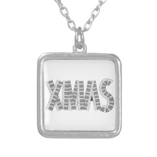 MUSICAL XMAS SILVER PLATED NECKLACE