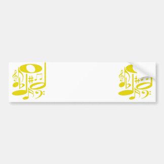 Musical Yellow Bumper Sticker
