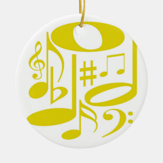 Musical Yellow Ornament