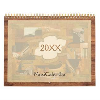 MusiCalendar 2017, Music Instruments Illustrations Calendar