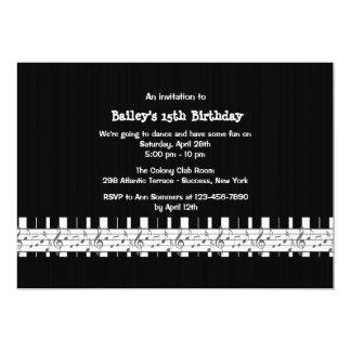 Musically Inclined Birthday Party Invitation