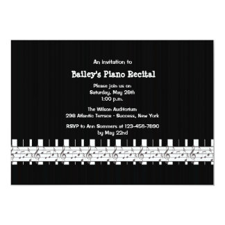 Musically Inclined Piano Recital Invitation