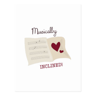 Musically Inclined Post Card