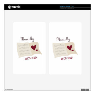 Musically Inclined Kindle Fire Skin