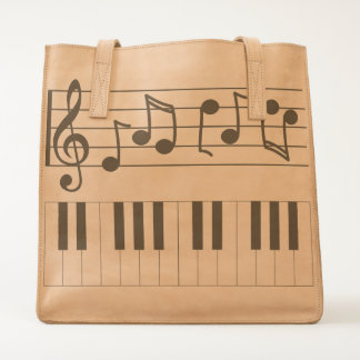 Musically Keyboard Style Tote
