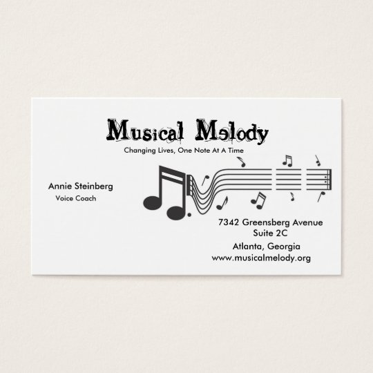 MusicalNotes, Musical Melody , Changing Lives, ... Business Card