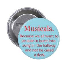 Musicals Button at Zazzle