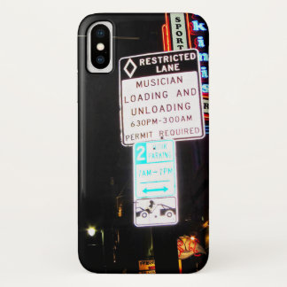 Musican Loading & Unloading Signage Austin Texas iPhone X Case