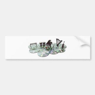 MusicDisks051411 Bumper Sticker