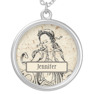 Musicha XXVI Personalized Round Necklace