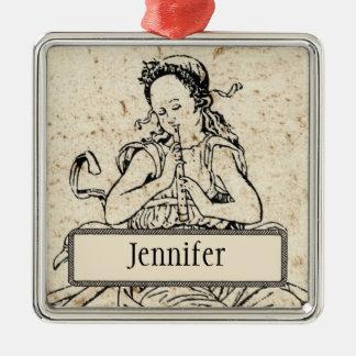 Musicha XXVI Personalized Square Ornament