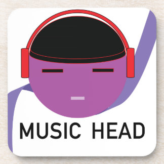 MUSICHEAD.png Drink Coasters
