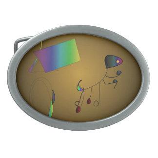 Musicial observa la hebilla del cinturón >Artistic Hebilla De Cinturon Oval