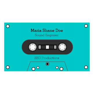 Musician 80's Tape Mix Business Card