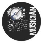 Musician Alchemy Round Sticker