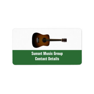 Musician And Music Promotional Avery Label at Zazzle