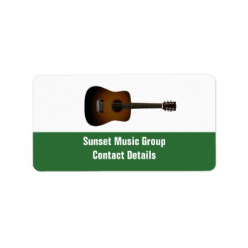 Musician And Music Promotional Avery Label by DigitalDreambuilder at Zazzle