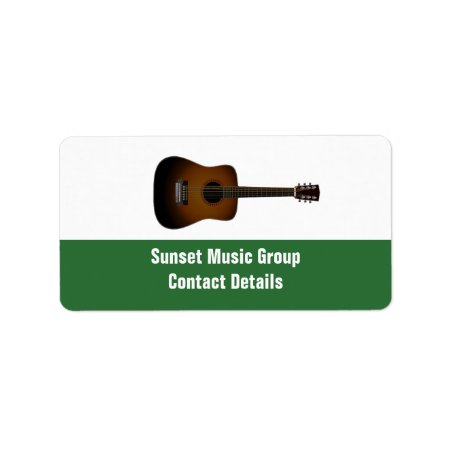 Musician And Music Promotional Avery Label