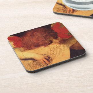 Musician Angel by Rosso Fiorentino Coaster