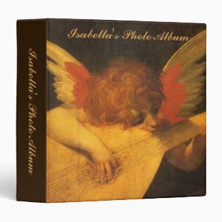 Musician Angel by Rosso Fiorentino Vintage Art 3 Ring Binder