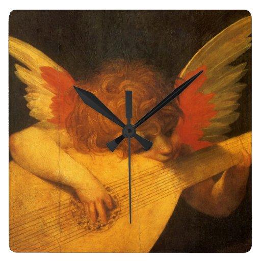 Musician Angel by Rosso Fiorentino, Vintage Art Clocks