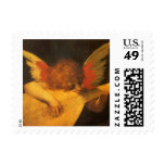 Musician Angel by Rosso Fiorentino, Vintage Art Postage Stamp