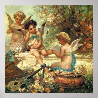 Musician Angels Victorian Fine Art Poster