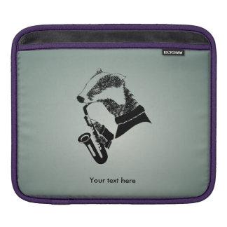 Musician Badger Saxophone Customizable iPad Sleeve