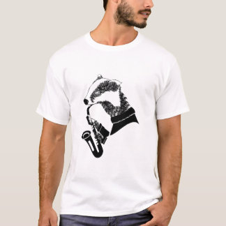 Musician Badger Saxophone Customizable T-Shirt