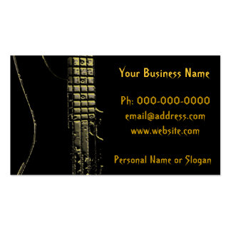 Musician, band, instruments business card