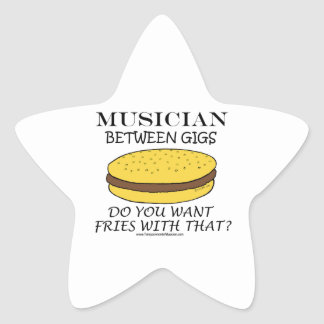 Musician Between Gigs Star Stickers