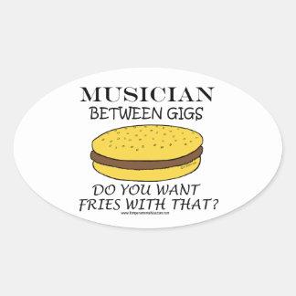Musician Between Gigs Sticker